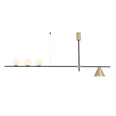 Потолочный светильник Kink Light Пулл 07620-3+1,33, 3xG4x5W +  1xE27x40W