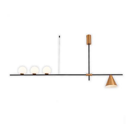 Потолочный светильник Kink Light Пулл 07620A-3+1,33, 3xG4x5W +  1xE27x40W
