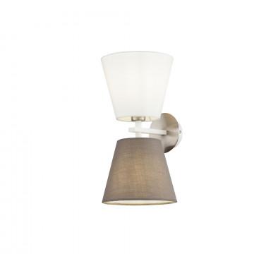 Бра Maytoni Tarrasa MOD009WL-02N, 2xE14x40W, никель, серый, металл, текстиль