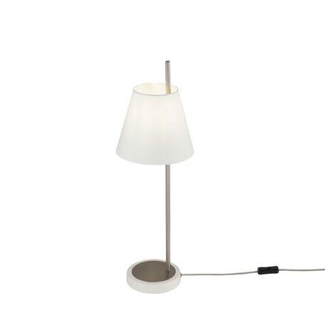 Настольная лампа Maytoni Tarrasa MOD009TL-01N, 1xE14x40W, никель, белый, металл, текстиль