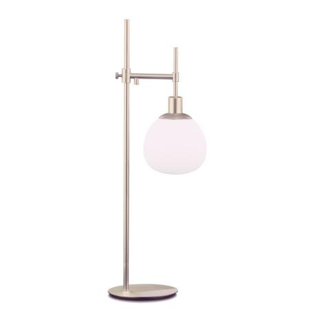 Настольная лампа Maytoni Erich MOD221-TL-01-N, 1xE14x40W, никель, белый, металл, стекло