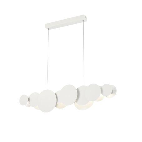 Подвесной светильник Maytoni Cloud MOD003PL-L27WS 3000K (теплый), белый, серебро, металл