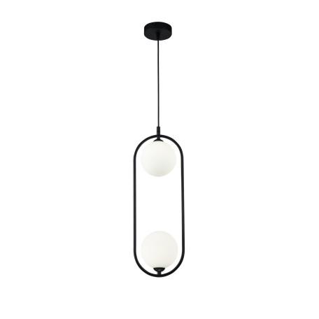Подвесной светильник Maytoni Ring MOD013PL-02B, 2xG9x25W, черный, белый, металл, стекло