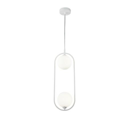 Подвесной светильник Maytoni Ring MOD013PL-02W, 2xG9x25W, белый, металл, стекло