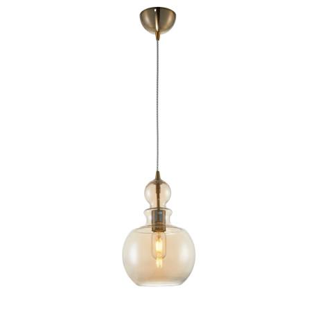 Подвесной светильник Maytoni Tone P003PL-01BZ, 1xE27x40W, бронза, янтарь, металл, стекло