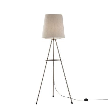 Торшер со столиком Maytoni Comfort MOD008FL-01N, 1xE27x40W, никель, серый, металл, текстиль
