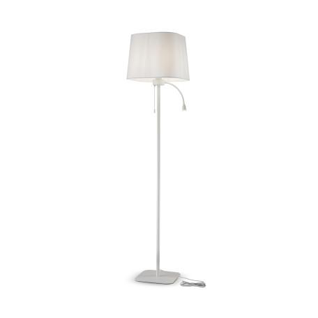 Торшер Maytoni Farel Z001FL-L3W-1W, 1xE27x60W + LED, белый, металл, текстиль