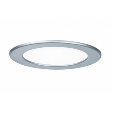 Встраиваемая светодиодная панель Paulmann Quality Line Panel IP44 92071, IP44, LED 12W, матовый хром, металл с пластиком