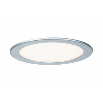 Встраиваемая светодиодная панель Paulmann Quality Line Panel 92075, IP44, LED 18W, матовый хром, металл с пластиком