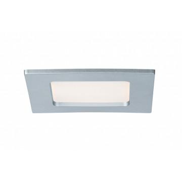 Встраиваемая светодиодная панель Paulmann Quality Line Panel 92079, IP44, LED 6W, матовый хром, металл с пластиком