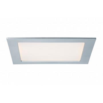 Светодиодная панель Paulmann Quality Line Panel 92081, IP44, LED 18W, матовый хром, металл с пластиком