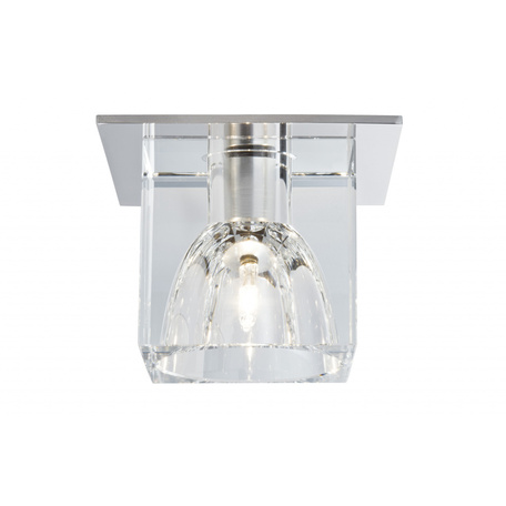 Встраиваемый светильник Paulmann Quality Line Glassy Cube 92018, 1xG4x10W, металл, стекло
