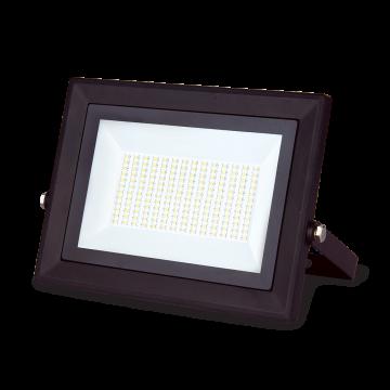 Светодиодный прожектор Gauss Q Plus морозоустойчивый 613511100, IP65, LED 100W 6500K 9000lm CRI>75, черный, металл, стекло