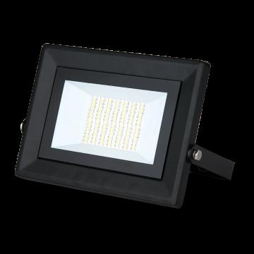 Светодиодный прожектор Gauss Q Plus морозоустойчивый 613511350, IP65, LED 50W 6500K 4500lm CRI>75, черный, металл, стекло