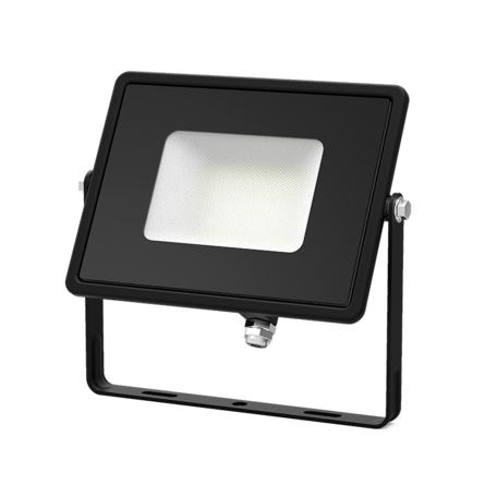 Светодиодный прожектор Gauss Q Plus морозоустойчивый 613511310, IP65, LED 10W 6500K 900lm CRI>75, черный, металл, стекло