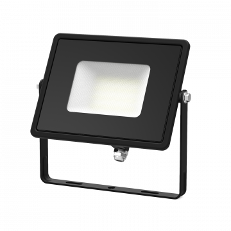 Светодиодный прожектор Gauss Q Plus морозоустойчивый 613511330, IP65, LED 30W 6500K 2700lm CRI>75, черный, металл, стекло