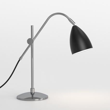 Настольная лампа Astro Joel 1223011 (4553), 1xE27x42W, хром, черный, металл