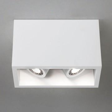 Потолочный светильник Astro Osca 1252005 (5684), 2xGU10x6W, белый, под покраску, гипс