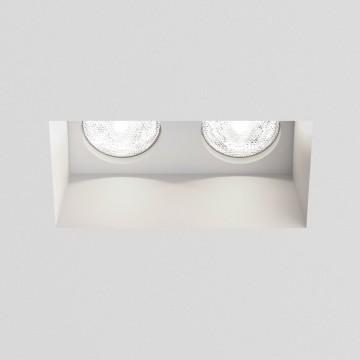 Встраиваемый светильник Astro Blanco 1253001 (5654), 2xGU10x50W, белый, под покраску, гипс