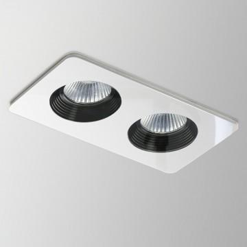 Встраиваемый светодиодный светильник Astro Vetro 1254003 (5669), IP65, LED 20W 3000K 1191lm CRI80, белый, прозрачный, черный, металл со стеклом