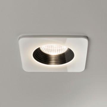 Встраиваемый светодиодный светильник Astro Vetro 1254007 (5731), IP65, LED 6W 2700K 594lm CRI80, белый, прозрачный, черный, металл, стекло - миниатюра 1