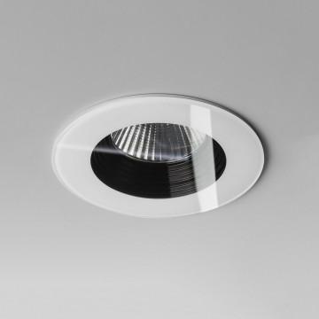 Встраиваемый светодиодный светильник Astro Vetro 1254009 (5733), IP65, LED 6W 2700K 594lm CRI80, белый, прозрачный, черный, металл, стекло