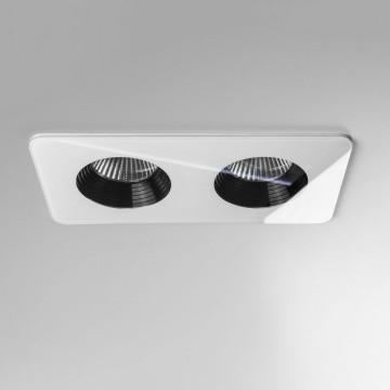 Встраиваемый светодиодный светильник Astro Vetro 1254015 (5748), IP65, LED 12W 3000K 1231.6lm CRI80, белый, черно-белый, стекло