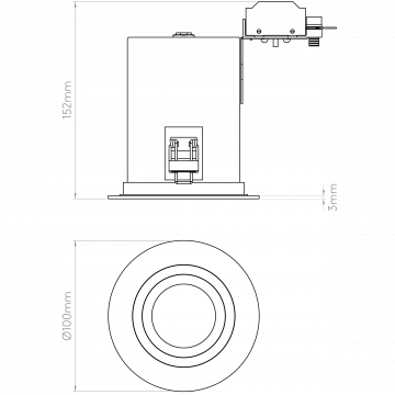 Схема с размерами Astro 1240024
