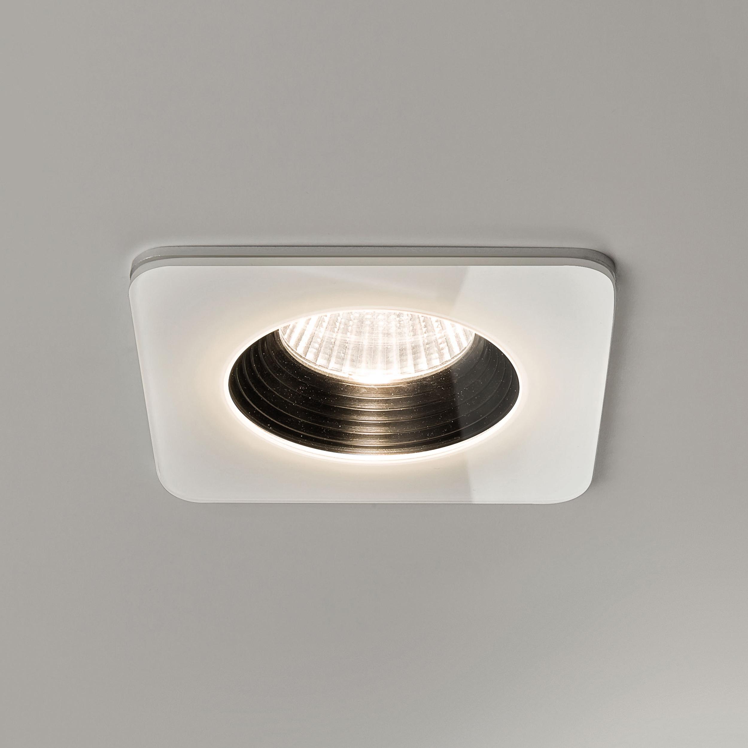 Встраиваемый светодиодный светильник Astro Vetro 1254007 (5731), IP65, LED 6W 2700K 594lm CRI80, белый, черно-белый, стекло - фото 1