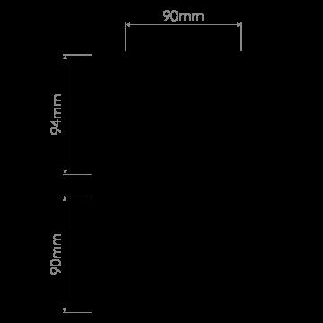 Схема с размерами Astro 1254007