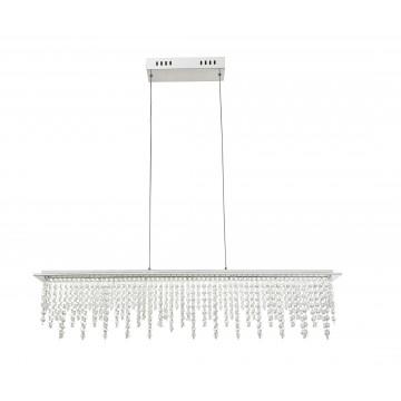 Подвесной светодиодный светильник с пультом ДУ Globo Scala 68405-24H, LED 24W 20-1700lm, прозрачный, металл, стекло, хрусталь
