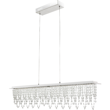 Подвесной светодиодный светильник с пультом ДУ Globo Scala 68405-24H, LED 24W 20-1700lm, прозрачный, зеркало, хрусталь