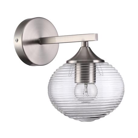 Бра Lumion Comfi Cooper 4457/1W, 1xE27x60W, никель, прозрачный, металл, стекло