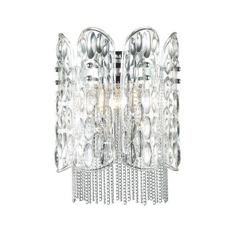 Бра Odeon Light Melba 4633/1W, 1xE14x40W, хром, прозрачный, никель, металл, стекло