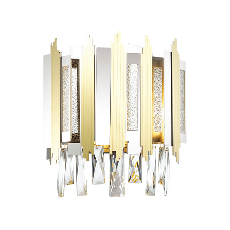Бра Odeon Light Runa 4635/2W, 2xE14x40W, хром, золото, прозрачный, металл, металл со стеклом, хрусталь