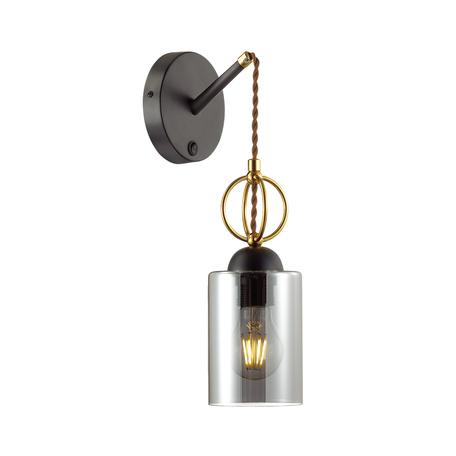 Бра Odeon Light Country Opika 4657/1W, 1xE27x60W, черный, дымчатый, металл, стекло