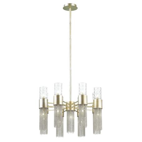 Люстра на составной штанге Odeon Light Hall Perla 4631/17, 17xG9x40W, серебро, прозрачный, никель, металл, металл со стеклом