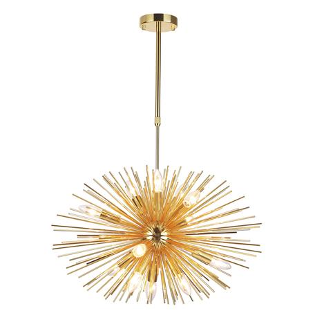 Люстра на телескопической штанге Odeon Light Modern Kavalle 4662/12, 12xE14x40W, золото, металл