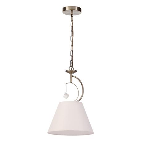Подвесной светильник Lumion Leah 4469/1, 1xE27x60W, бронза, белый, металл, текстиль, стекло