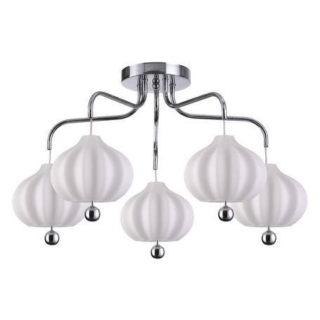 Потолочная люстра Lumion Juliet 4458/5C, 5xE27x60W, хром, белый, металл, стекло
