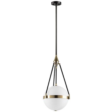 Потолочный светильник на составной штанге Lightstar Modena 816037, 3xE27x40W, черный, матовое золото, белый, металл, стекло