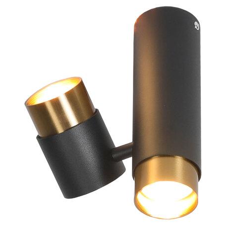 Светильник Lussole Loft Gilbert LSP-8378, IP21, 2xGU10x50W, черный, черный с бронзой, металл