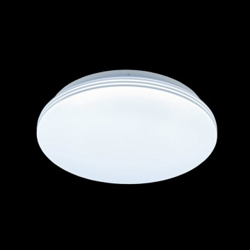 Потолочный светодиодный светильник Citilux Симпла CL714R18N, LED 18W 4000K 1300lm, белый, пластик - миниатюра 2