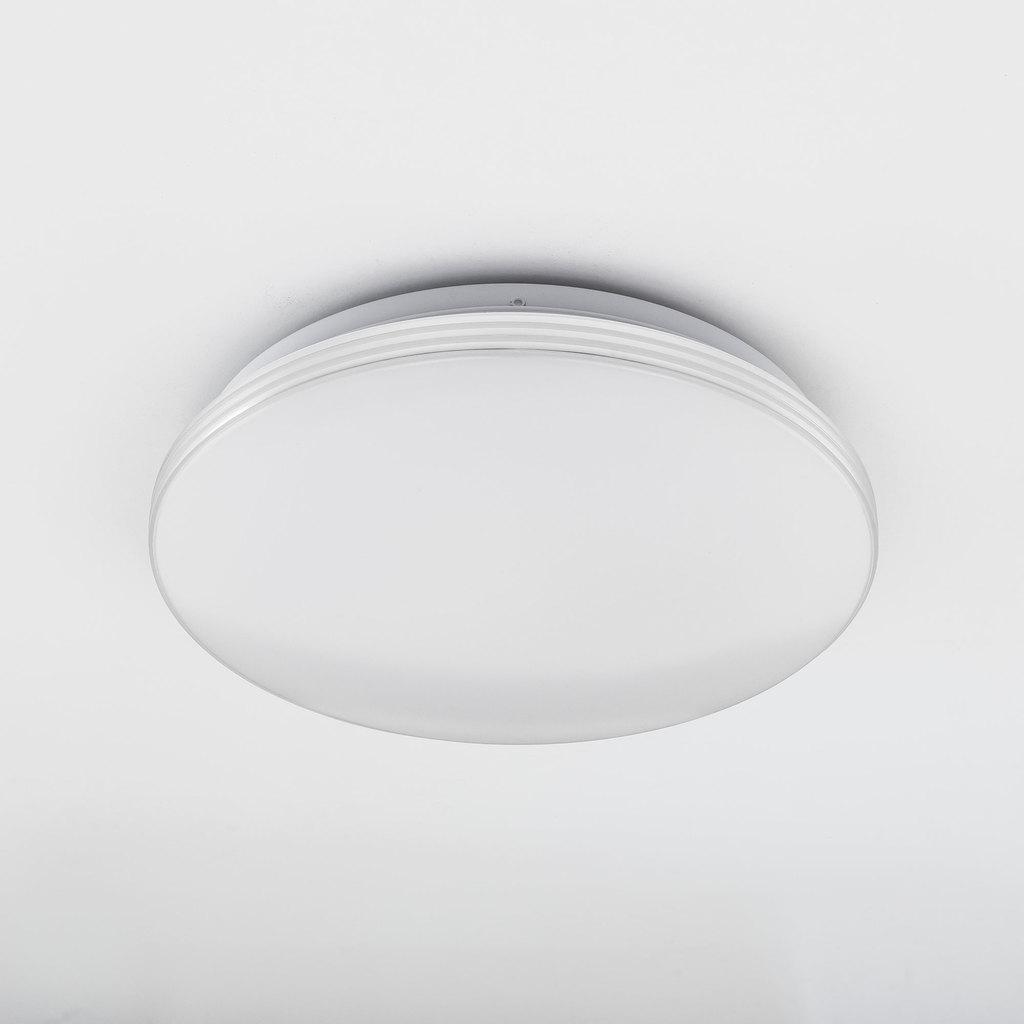 Потолочный светодиодный светильник Citilux Симпла CL714R18N, LED 18W 4000K 1300lm, белый, пластик - фото 4
