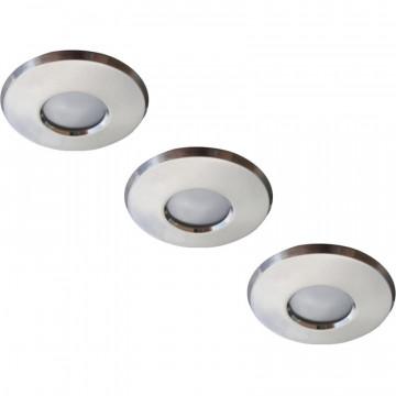 Встраиваемый светильник Arte Lamp Aqua A5440PL-3SS, IP44, 1xGU10x50W, серебро, металл, стекло
