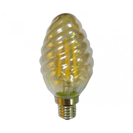 Филаментная светодиодная лампа Kink Light 098356-1,33 витая свеча E14 6W, 2700K (теплый) 220V