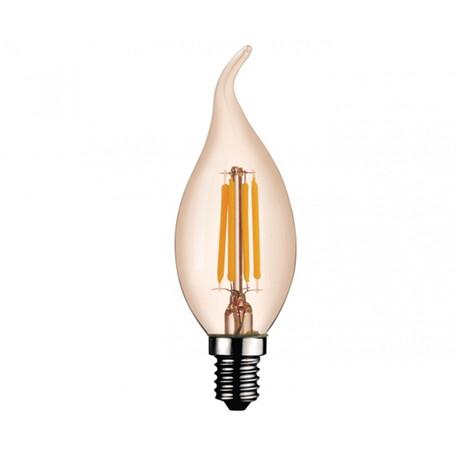 Филаментная светодиодная лампа Kink Light 098356-2,33 свеча на ветру E14 6W, 2700K (теплый) 220V