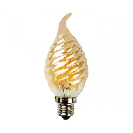 Филаментная светодиодная лампа Kink Light 098356-3,33 витая свеча на ветру E14 6W, 2700K (теплый) 220V