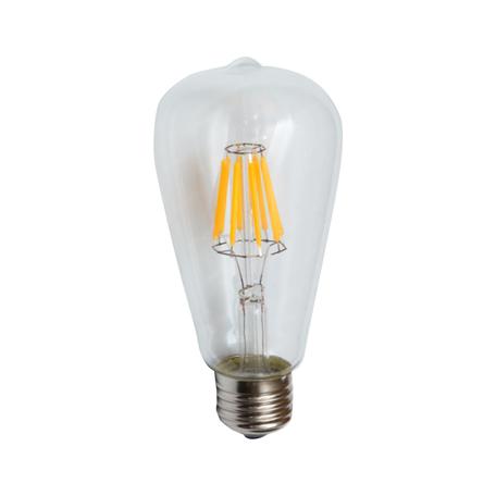 Филаментная светодиодная лампа Kink Light 098646,21 прямосторонняя груша E27 6W, 2700K (теплый) 220V