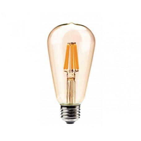 Филаментная светодиодная лампа Kink Light 098646,33 прямосторонняя груша E27 6W, 2700K (теплый) 220V